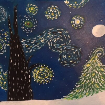 a starry night Christmas